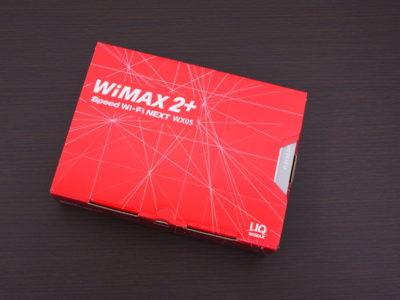 WiMAX2+_WX05のパッケージ
