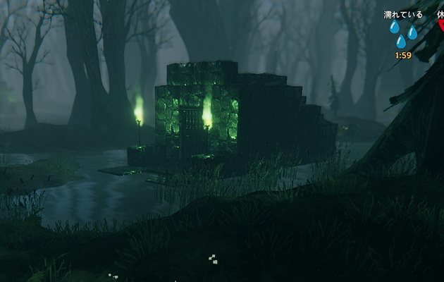 Valheimの沼のダンジョン