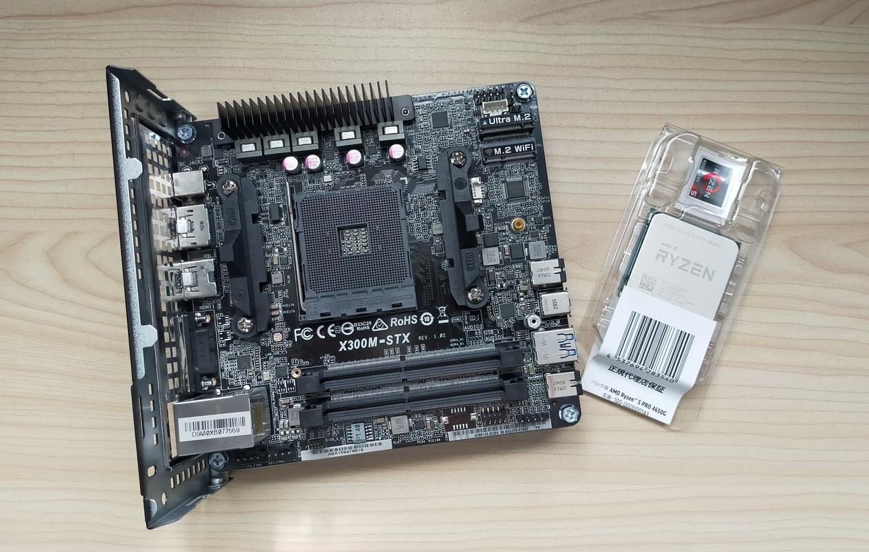 DeskMini X300へRyzen5取付け