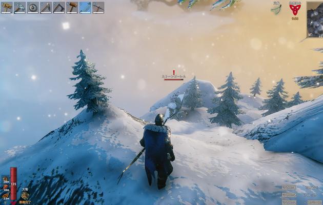Valheim_ストーンゴーレムが起きる前に弓で攻撃